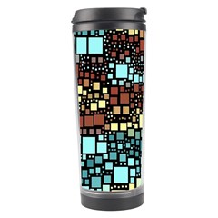 Block On Block, Aqua Travel Tumbler