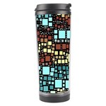 Block On Block, Aqua Travel Tumbler Right