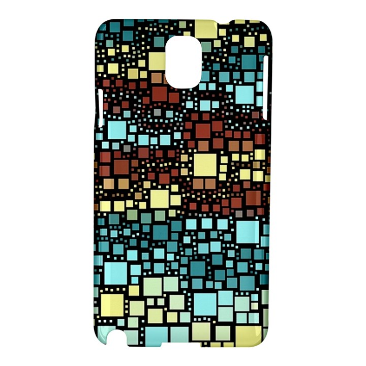 Block On Block, Aqua Samsung Galaxy Note 3 N9005 Hardshell Case