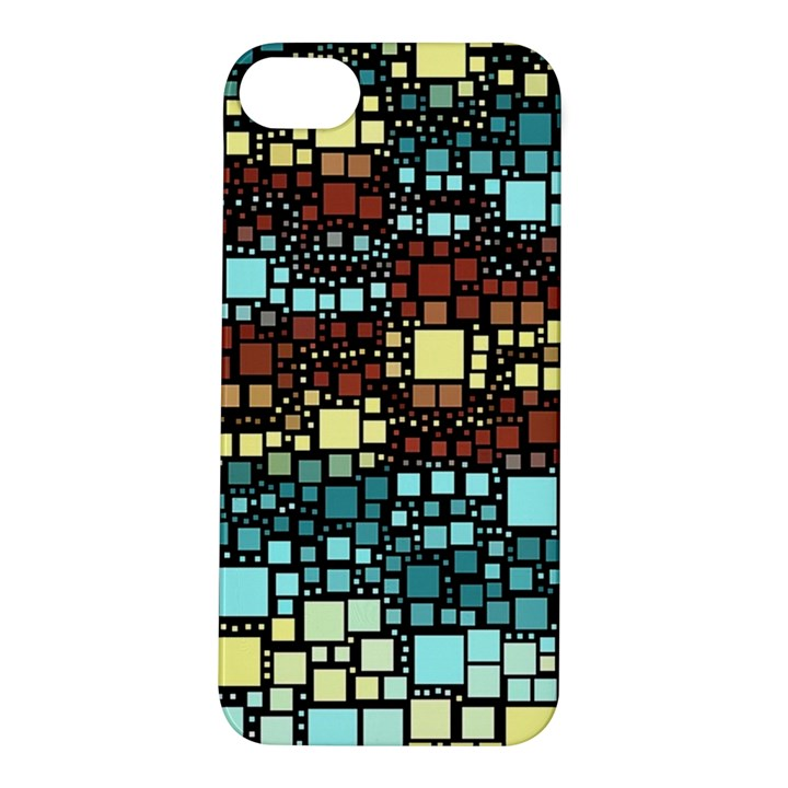 Block On Block, Aqua Apple iPhone 5S/ SE Hardshell Case
