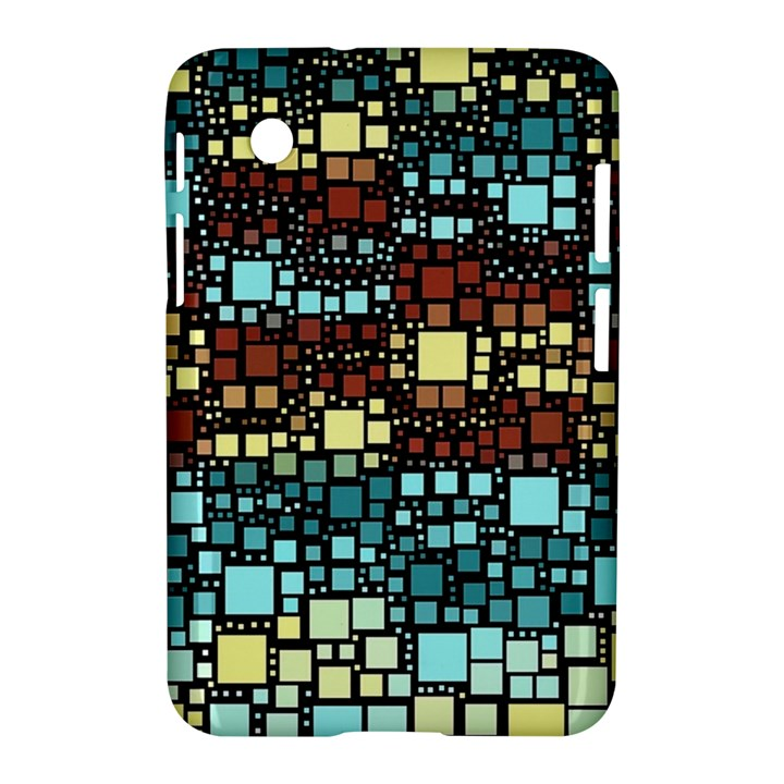 Block On Block, Aqua Samsung Galaxy Tab 2 (7 ) P3100 Hardshell Case
