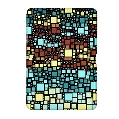 Block On Block, Aqua Samsung Galaxy Tab 2 (10.1 ) P5100 Hardshell Case