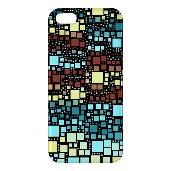Block On Block, Aqua iPhone 5S/ SE Premium Hardshell Case