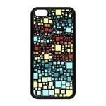 Block On Block, Aqua Apple iPhone 5C Seamless Case (Black) Front