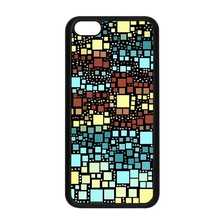 Block On Block, Aqua Apple iPhone 5C Seamless Case (Black)