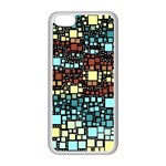 Block On Block, Aqua Apple iPhone 5C Seamless Case (White) Front