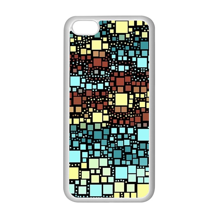 Block On Block, Aqua Apple iPhone 5C Seamless Case (White)