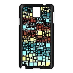 Block On Block, Aqua Samsung Galaxy Note 3 N9005 Case (black)
