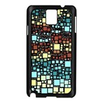 Block On Block, Aqua Samsung Galaxy Note 3 N9005 Case (Black) Front