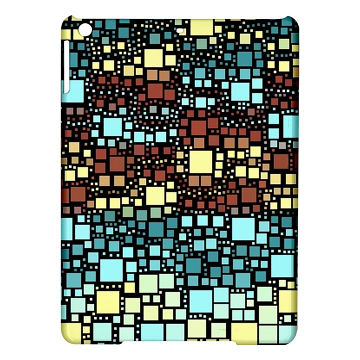 Block On Block, Aqua iPad Air Hardshell Cases