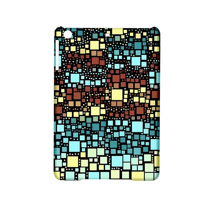Block On Block, Aqua iPad Mini 2 Hardshell Cases