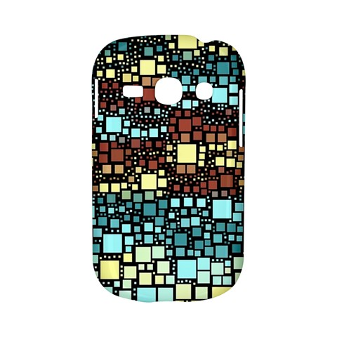 Block On Block, Aqua Samsung Galaxy S6810 Hardshell Case