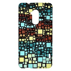 Block On Block, Aqua HTC One Max (T6) Hardshell Case