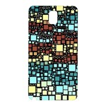 Block On Block, Aqua Samsung Galaxy Note 3 N9005 Hardshell Back Case Front