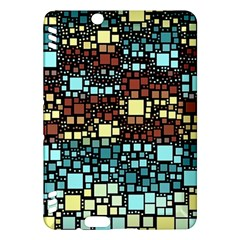 Block On Block, Aqua Kindle Fire HDX Hardshell Case