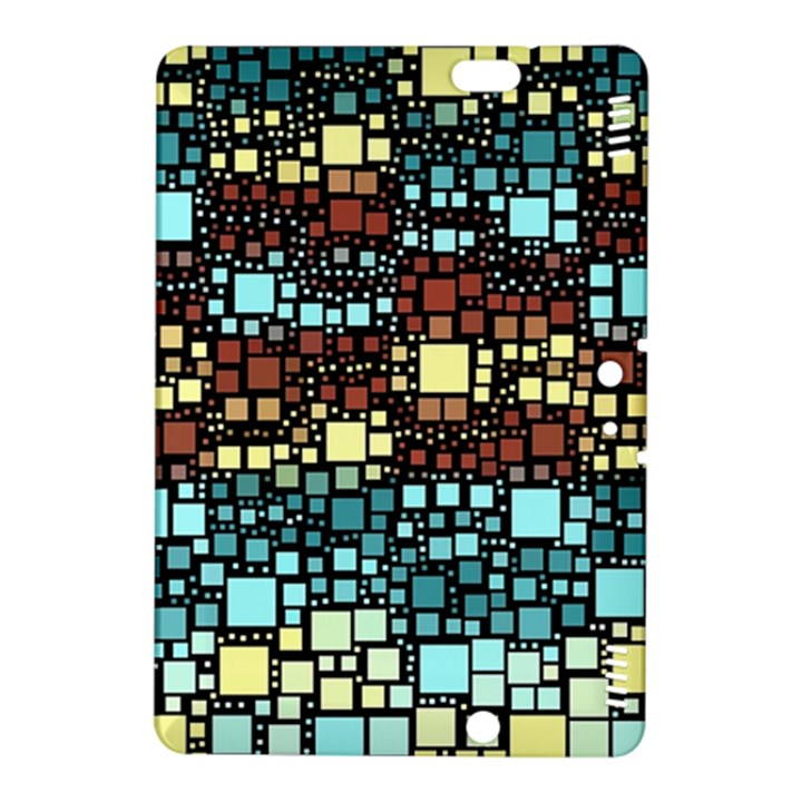 Block On Block, Aqua Kindle Fire HDX 8.9  Hardshell Case