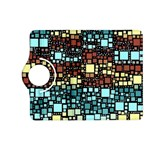 Block On Block, Aqua Kindle Fire HD (2013) Flip 360 Case Front
