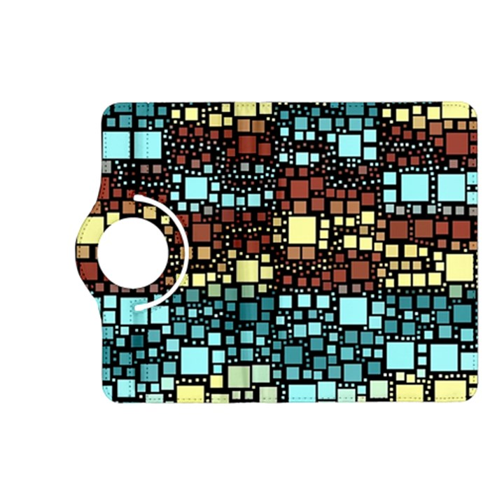 Block On Block, Aqua Kindle Fire HD (2013) Flip 360 Case