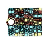 Block On Block, Aqua Kindle Fire HDX 8.9  Flip 360 Case Front