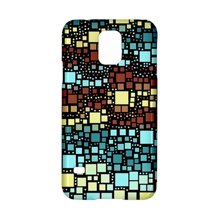 Block On Block, Aqua Samsung Galaxy S5 Hardshell Case