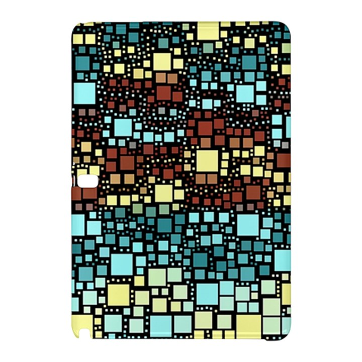 Block On Block, Aqua Samsung Galaxy Tab Pro 10.1 Hardshell Case