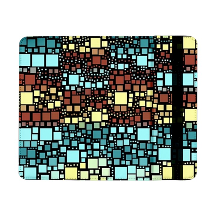 Block On Block, Aqua Samsung Galaxy Tab Pro 8.4  Flip Case