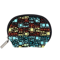 Block On Block, Aqua Accessory Pouches (Small)