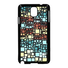 Block On Block, Aqua Samsung Galaxy Note 3 Neo Hardshell Case (black)