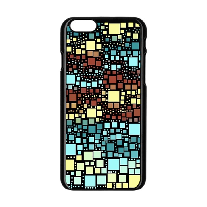 Block On Block, Aqua Apple iPhone 6/6S Black Enamel Case