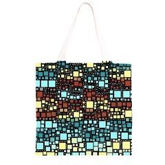 Block On Block, Aqua Grocery Light Tote Bag