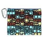 Block On Block, Aqua Canvas Cosmetic Bag (XXL) Front