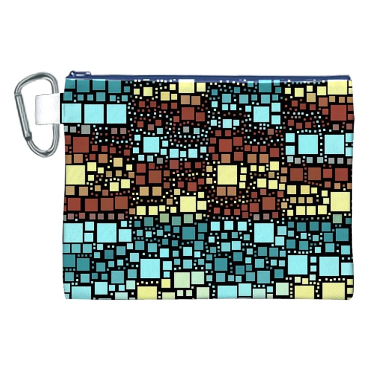 Block On Block, Aqua Canvas Cosmetic Bag (XXL)