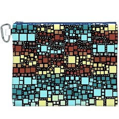 Block On Block, Aqua Canvas Cosmetic Bag (xxxl)
