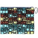 Block On Block, Aqua Canvas Cosmetic Bag (XXXL) Back