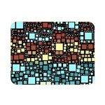 Block On Block, Aqua Double Sided Flano Blanket (Mini)  35 x27 Blanket Front