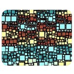 Block On Block, Aqua Double Sided Flano Blanket (Medium)  60 x50 Blanket Front