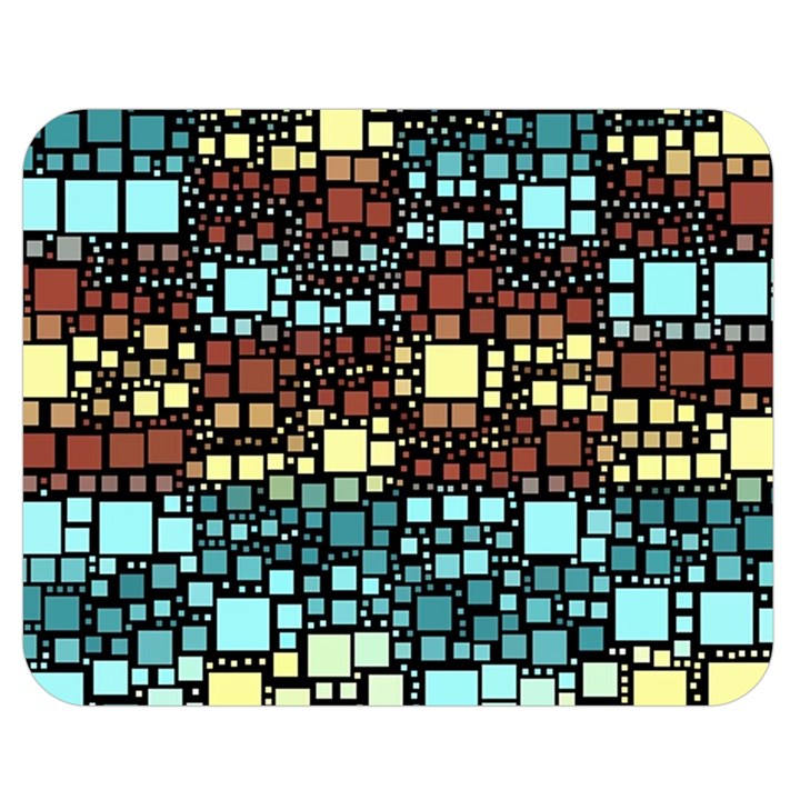 Block On Block, Aqua Double Sided Flano Blanket (Medium)