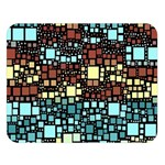 Block On Block, Aqua Double Sided Flano Blanket (Large)  80 x60 Blanket Front