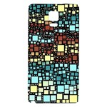Block On Block, Aqua Galaxy Note 4 Back Case Front