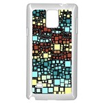 Block On Block, Aqua Samsung Galaxy Note 4 Case (White) Front