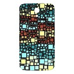 Block On Block, Aqua Samsung Galaxy Mega I9200 Hardshell Back Case Front