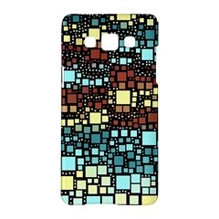 Block On Block, Aqua Samsung Galaxy A5 Hardshell Case