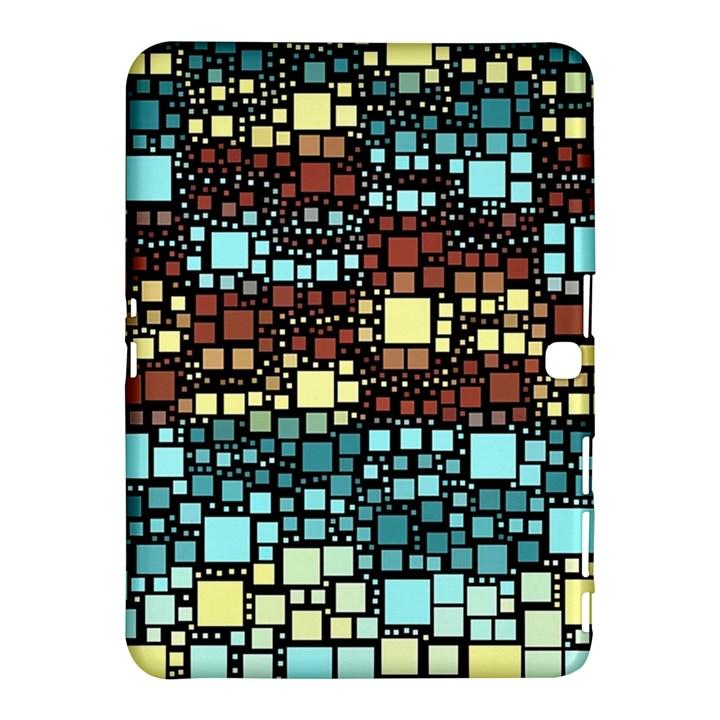 Block On Block, Aqua Samsung Galaxy Tab 4 (10.1 ) Hardshell Case