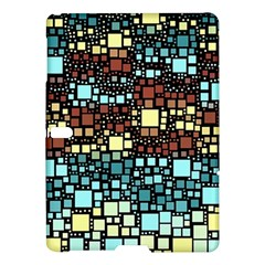 Block On Block, Aqua Samsung Galaxy Tab S (10 5 ) Hardshell Case