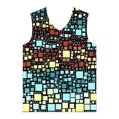 Block On Block, Aqua Men s Basketball Tank Top