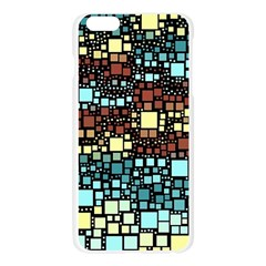 Block On Block, Aqua Apple Seamless iPhone 6 Plus/6S Plus Case (Transparent)