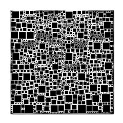 Block On Block, B&w Tile Coasters