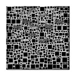 Block On Block, B&w Tile Coasters Front