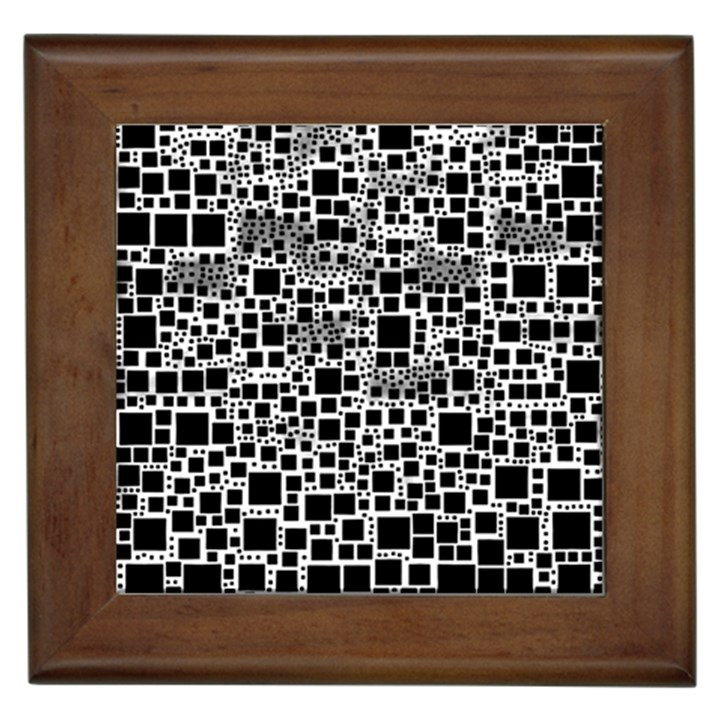 Block On Block, B&w Framed Tiles