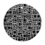 Block On Block, B&w Ornament (Round)  Front